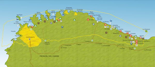 Guía de viaje: Santa Marta y Parque Tayrona - Sinmapa
