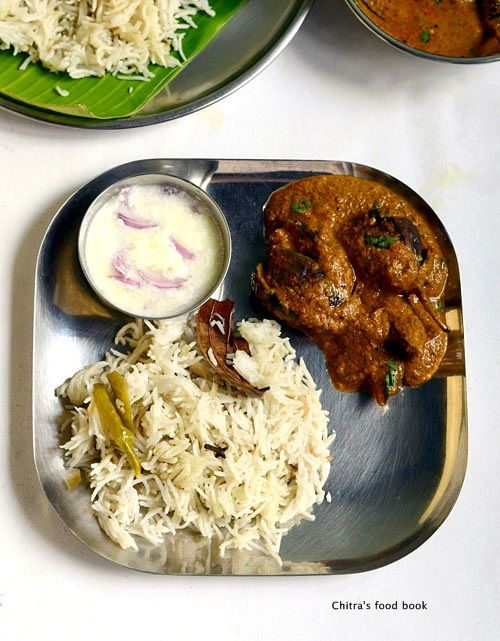 Brinji rice with brinjal gravy - a popular rice variety of Tamil nadu!