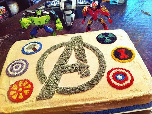avengers birthday cake ideas | avengers birthday cake chocolate fudge cake with peanut butter ...