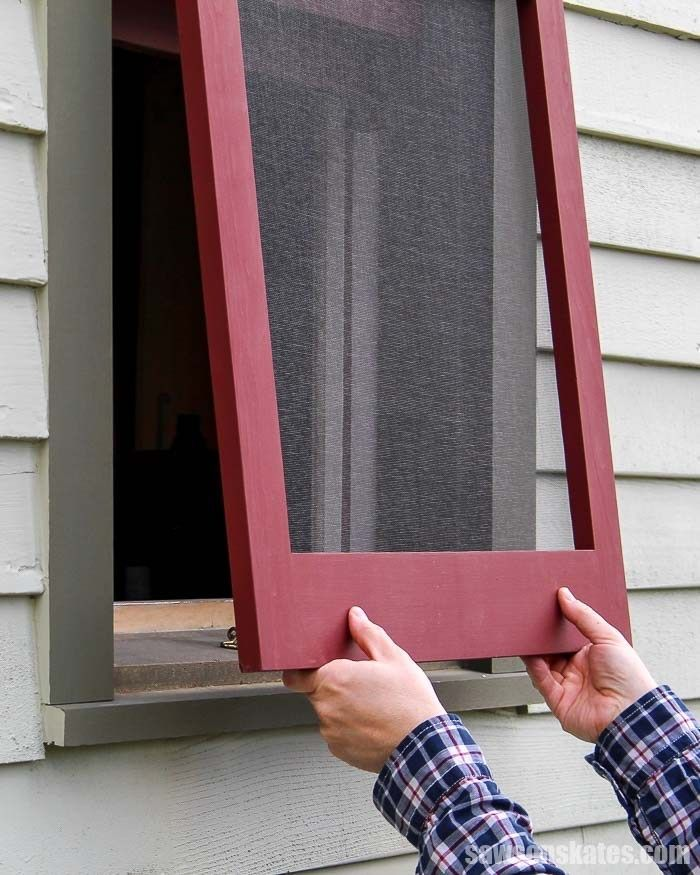 How To Replace A Window Screen Fix It Save Saws On Skates Diy Window Screen Diy Screen Door Wood Window Frame