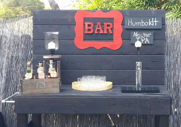 Scotch Bar Beer Tap Birthday Party Wedding Shabby Chic
