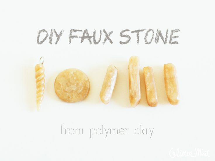 DIY faux stone from polymer clay
