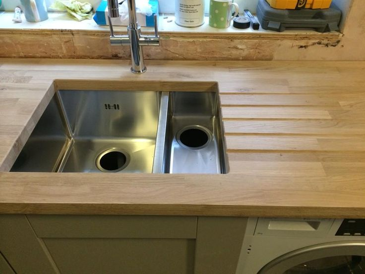 Browns Kitchens - Tuscan Solid Wood worktops and Tuscan Sinks
