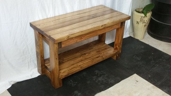 Rustic Entryway Shoe Bench made from Recycled by OurWackyWoodshop