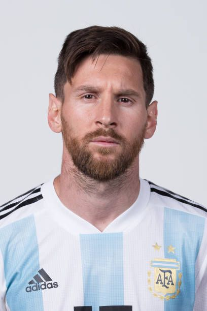 Lionel Messi of Argentina poses for a portrait during the ...