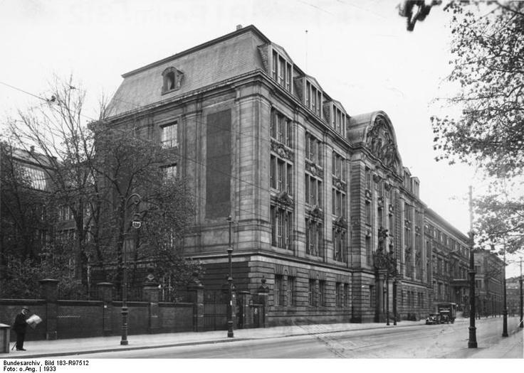 Gestapo headquarters in Prinz-Albrecht-Street in Berlin (1933)