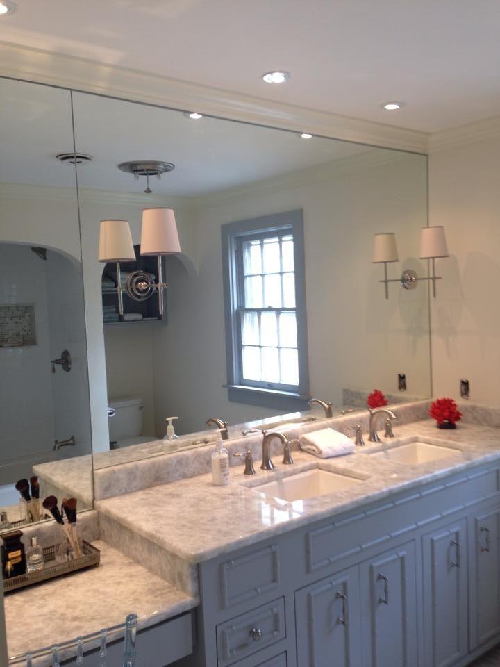 Master bath remodel.... so in love. #kohler #thetileshop #quartz #coventrygrey