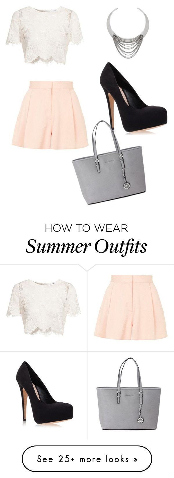 """""""Cute summer outfit"""" by alexisazran on Polyvore featuring Glamorous, Diane Von Furstenberg, Topshop, Carvela Kurt Geiger and Michael Kors"""