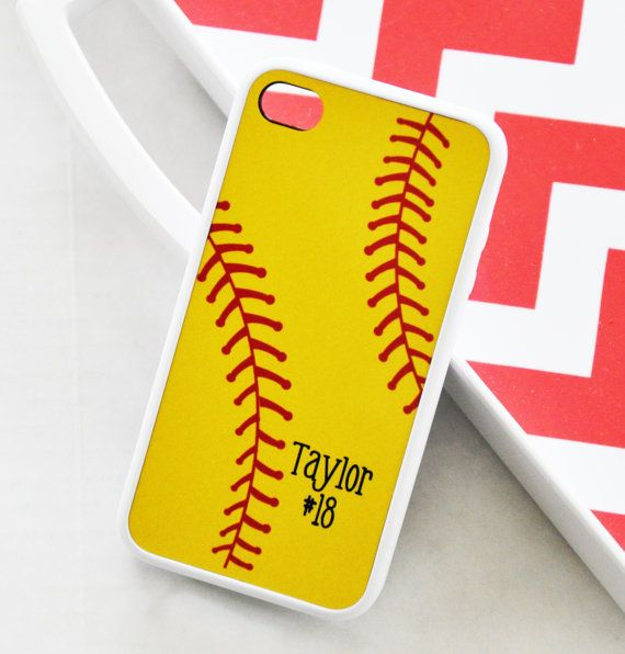 Personalized Softball iPhone Case Monogrammed by AModernStyle, $18.99