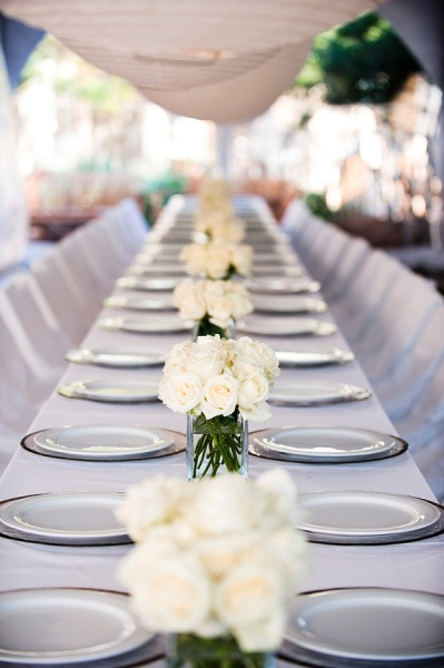 WaterColor Resort Wedding From Diva Productions + Paul Johnson Photography. Long  Table CenterpiecesWhite ...