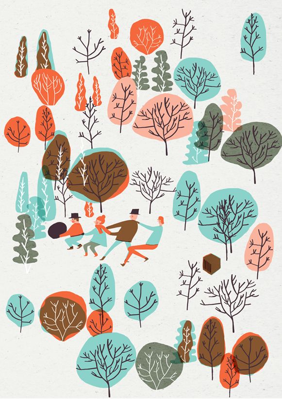 Groundhog - Editorial Illustration by Hannah Warren, via Behance