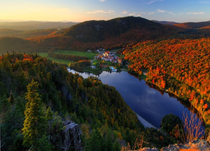 Dixville Notch with the Balsams Hotel in the background