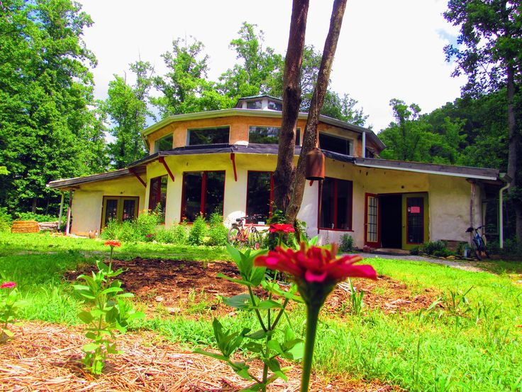 The Earthaven Council Hall hosts the majority of classes for the Permaculture Design Course.