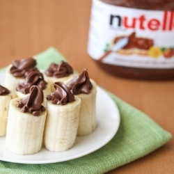 Nutella Stuffed Bananas