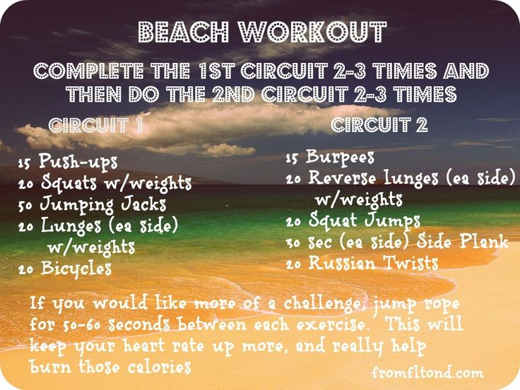 Beach Workout!  If you want legs and abs to show off on the beach, do this workout!  You will notice a difference fast!