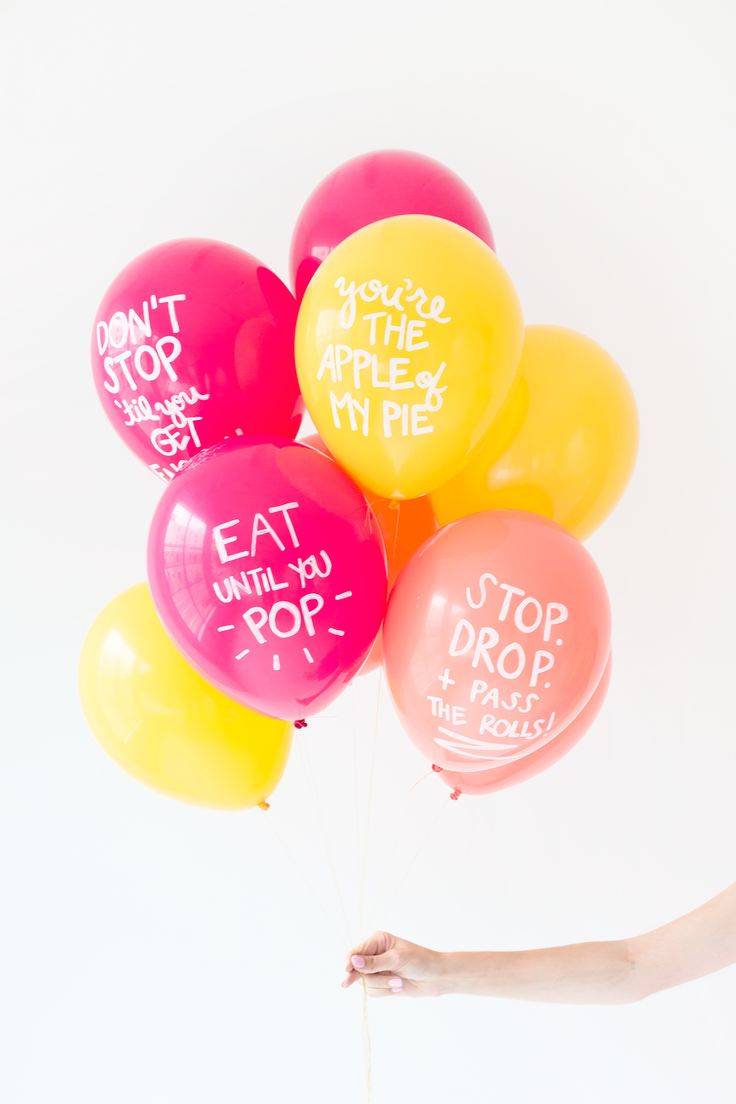 DIY Thanksgiving Pun Balloons   studiodiy.com