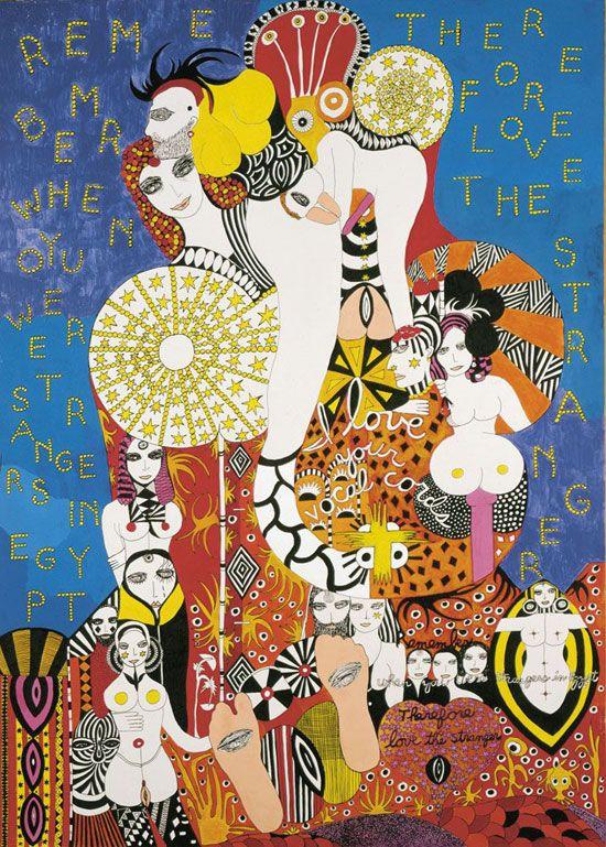 Dorothy Iannone, Love the Stranger, 1981