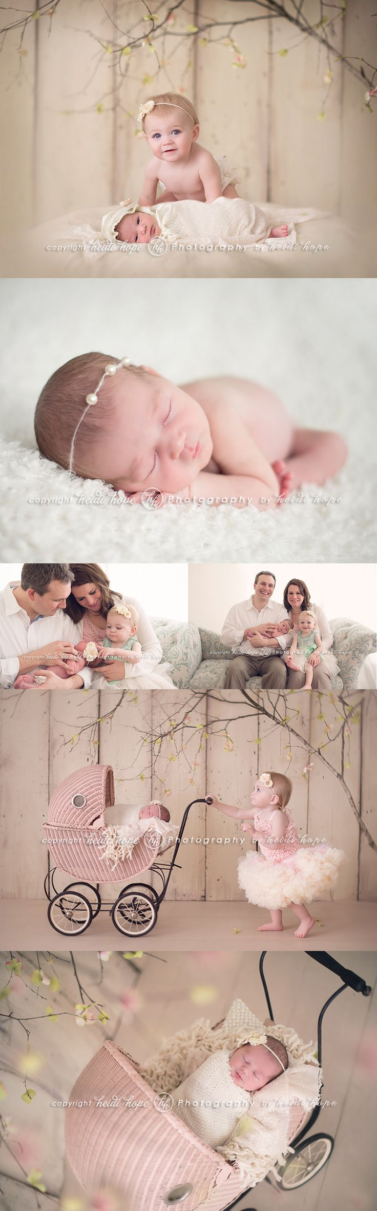 Newborn Baby | Heidi Hope Photography | Photo Session Ideas | Birth Announcement | Props | Prop | Sisters | Family