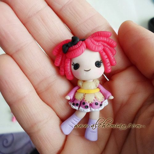 Lala loopsey polymer clay doll