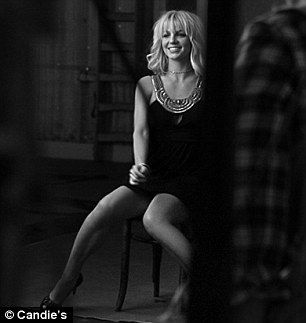 Britney Spears photo by Annie Leibovitz for Candie's lingerie