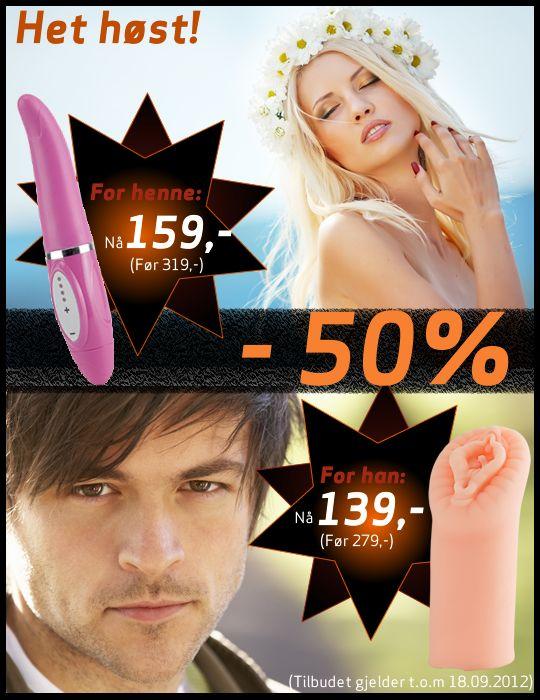 Få 50 % avslag nå! #tilbud