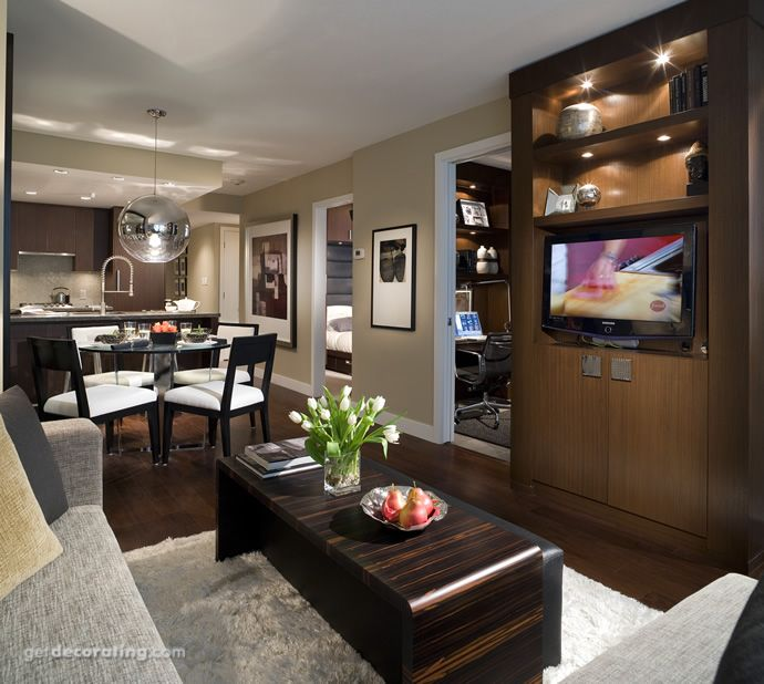 zen living room dining room