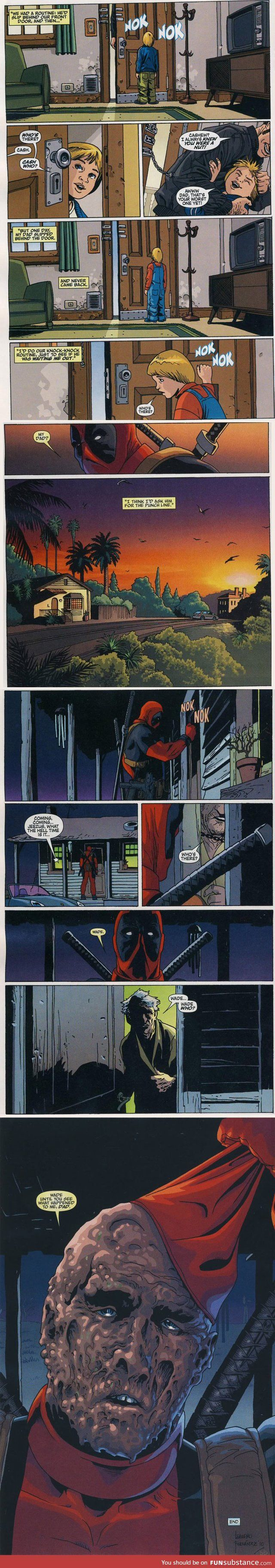 Don't give me such major feels over deadpool. Wade (Wilson) deadpool