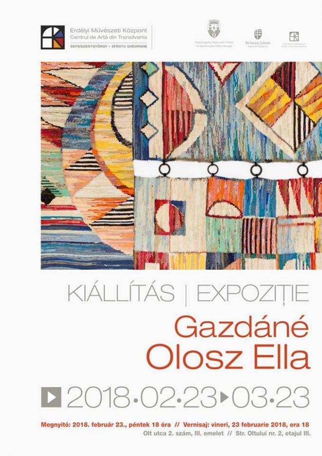 Gazdáné Olosz Ella textilművész kiállítása az Erdélyi Művészeti Központban