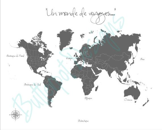 Custom Listing for Sophie: World Push Pin Map by ButterpotDesigns
