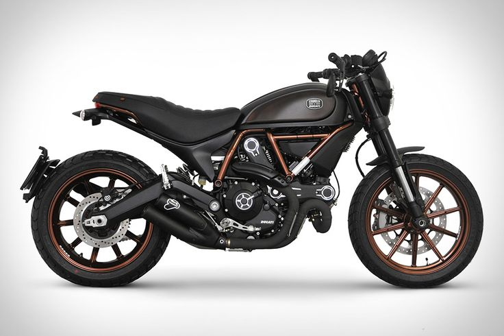 A collaboration two years in the making, the Ducati Scrambler Italia Independent takes the Italian bike manufacturer's '70s-inspired bike and adds a touch of fashion-focused cafe racer flair. Unique features include a black engine with brushed head fins, a black...