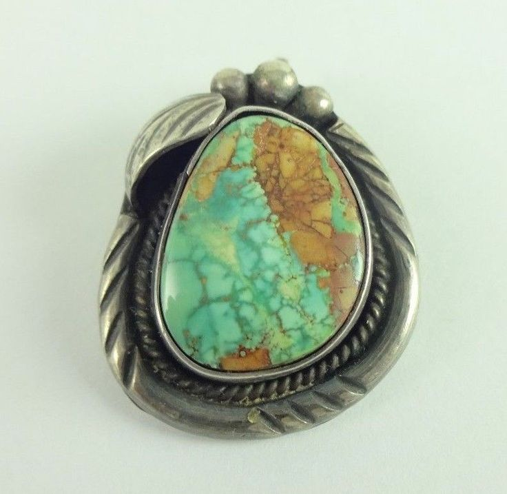 Sterling Silver Native American Gorgeous Turquoise Pendant