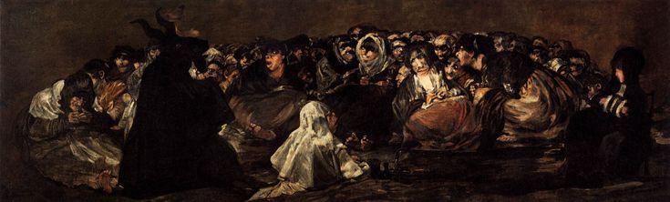 """""""Il sabba delle streghe"""" 1819-1823  Dimension: 140 x 438 cm  Museo del Prado, Madrid"""