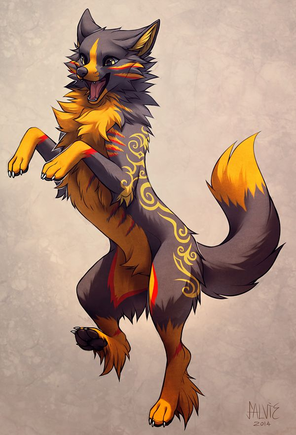 I love this wolf. I wish I could draw like this... *sighs* maybe in another year or so I'll be able to....