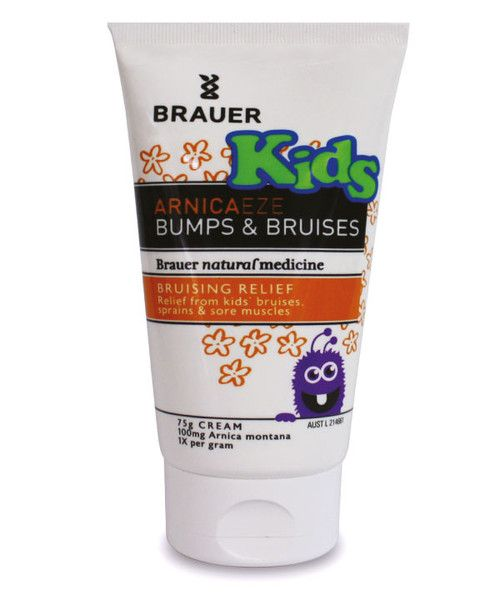Arnicaeze Kids Bumps & Bruises 75g- Kids Arnicaeze Bumps & Bruises Cream for bumped elbows and knees, playground bruises, sporting aches, pains and sprains. They're all part of everyday life when you have active growing kids!  Kids Arnicaeze Bumps & Bruises contains Arnica Montana, which is traditionally used in homeopathic medicine to help relieve bumps, bruises, strains, sprains and sore muscles.