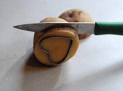 DIY potato stamp