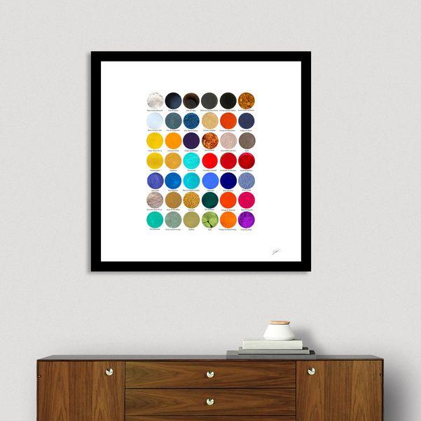 Découvrez «Pigments & colorants pour l'Enluminure. Pigments and dyes», Édition Limitée Affiches d'art par David Damour - À partir de 27€ - Curioos