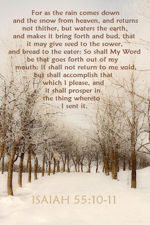 Isaiah 55:10-11 by wilma