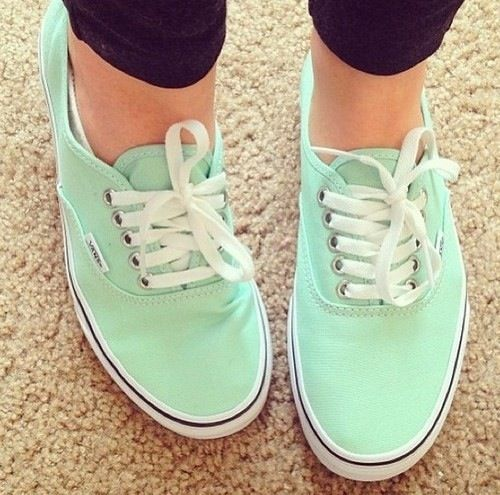 Mint, light pink, hot pink, orange, yellow, light blue, turquoise, forest green, royal blue, purple, red, vans