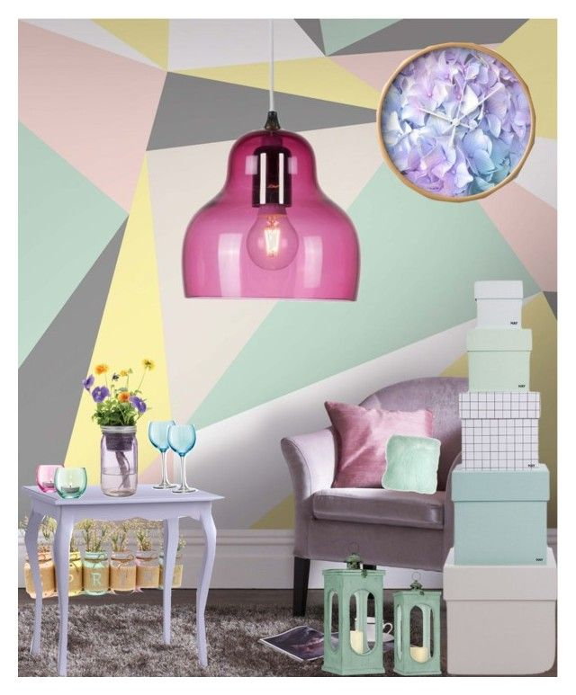 """""""Pastels"""" by nancykou on Polyvore featuring interior, interiors, interior design, home, home decor, interior decorating, Graham & Brown, Redford House, LSA International and Innermost"""
