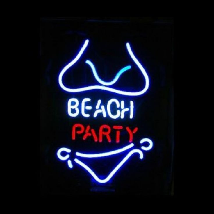 Neon Bar Sign - Beach Party