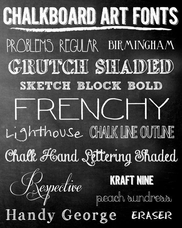 iNSPiRE | FREE Chalkboard Fonts   Holiday Art Prints