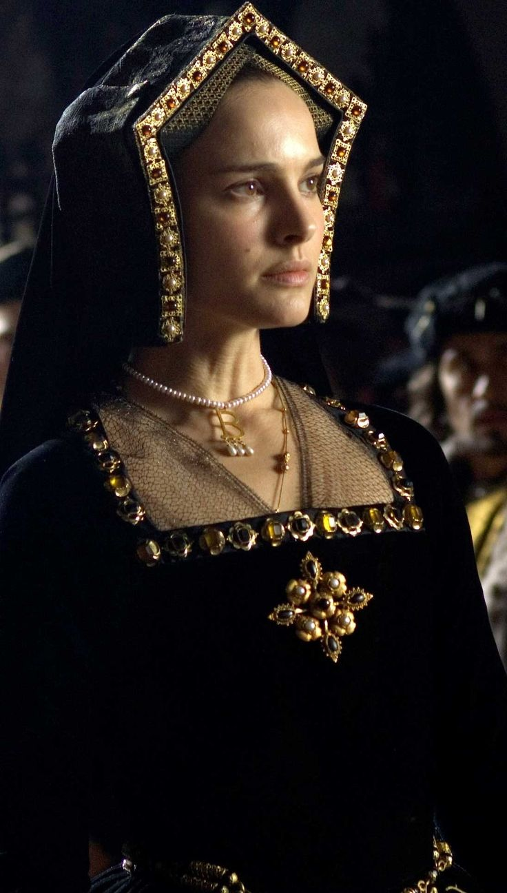 Historical records say Anne Boleyn prefered French Hood over Gable Hood ... Just Sayin!  Natalie Portman as Anne Boleyn