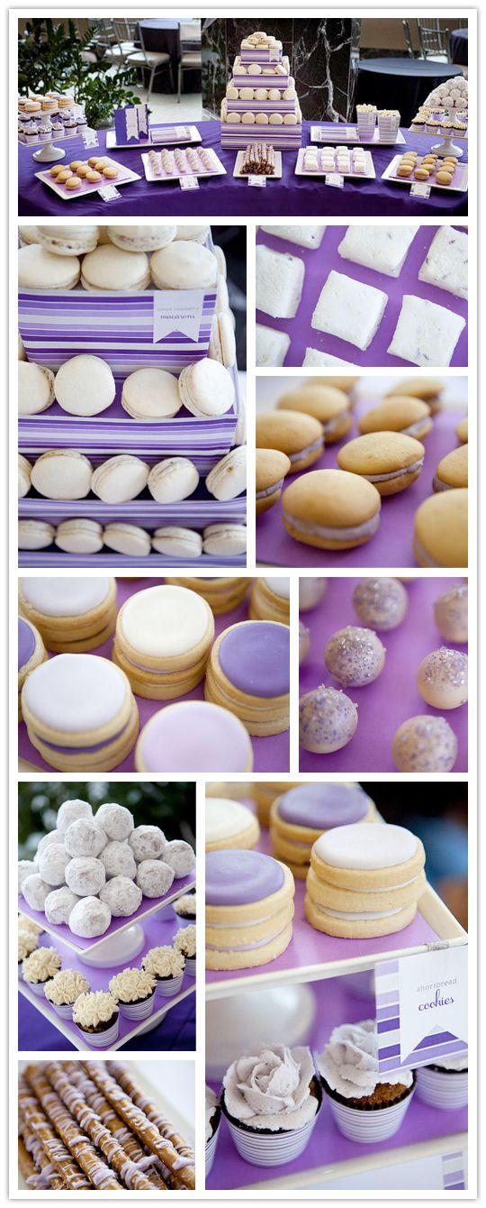I LOVE macarons! This would be a fabulous shower/reception dessert buffet