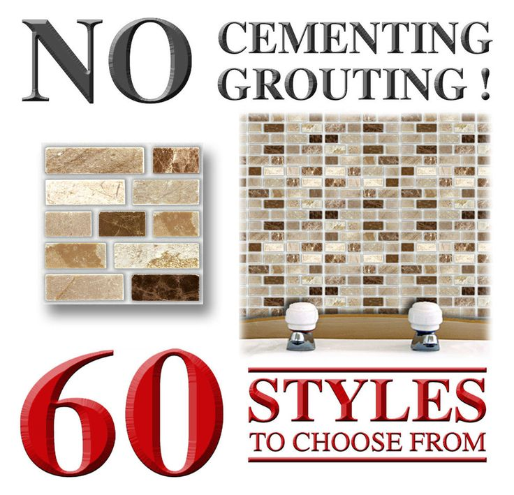 18 Peel Stick Go Stone Tablet Self Adhesive Wall Tiles Kitchens Bathrooms