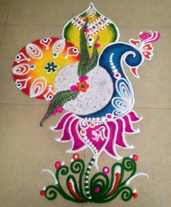 376 best images about RANGOLI PEACOCK on Pinterest ...