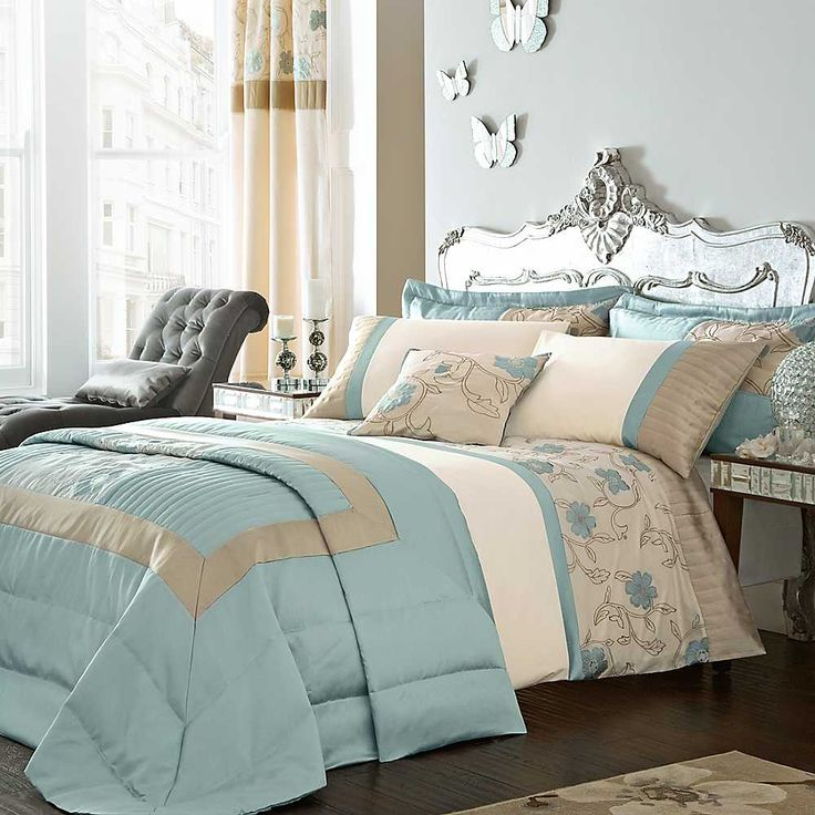 Duckegg blue bedroom home pinterest gardens blue for Cream and brown bedroom designs