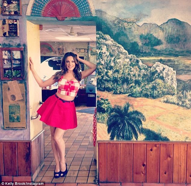 And heres Kelly with her clothes on... The model posted an Instagram photo of her in Little Havana