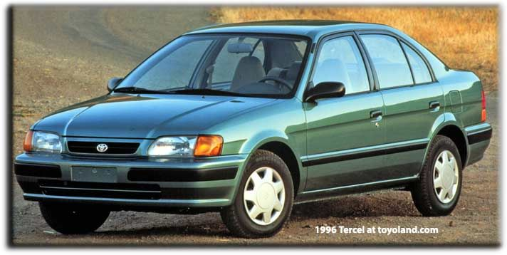 Toyota Tercel DeLuxe Automatic still on the road in Mint green at  California! Loved my car lots of memories.