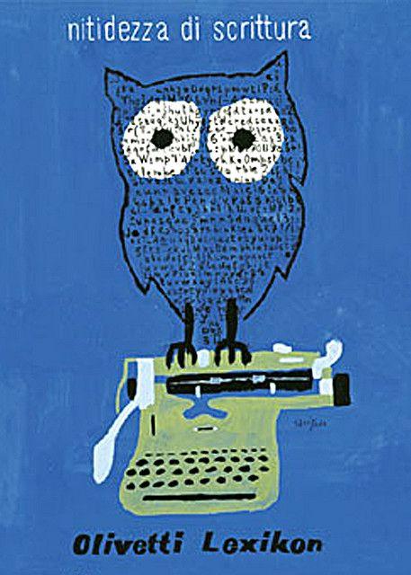 Olivetti Lexikon 80 Poster designed by Raymond Savignac for the Olivetti Lexikon 80