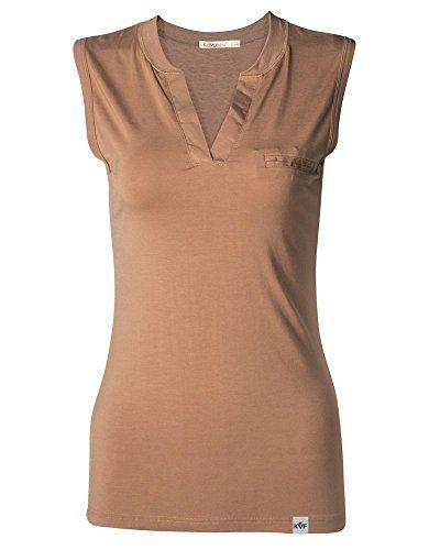 Kalvon-Fu Women's Modal Spandex V-Neck Sleeveless Fitted Base T-shirt (XL, Camel)  Special Offer: $13.99  188 Reviews New fashion women t-shirt brand tee tops sleeveless modal clothing solid v-neck slimming tshirt95% Modal 5% SpandexMachine...